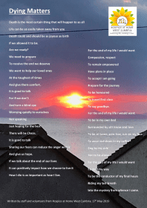 Dying Matters Poem