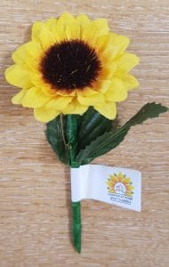 Sunflower Pin Badge