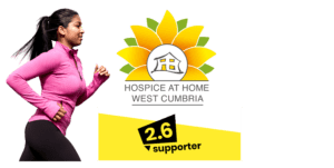 Running woman supporter